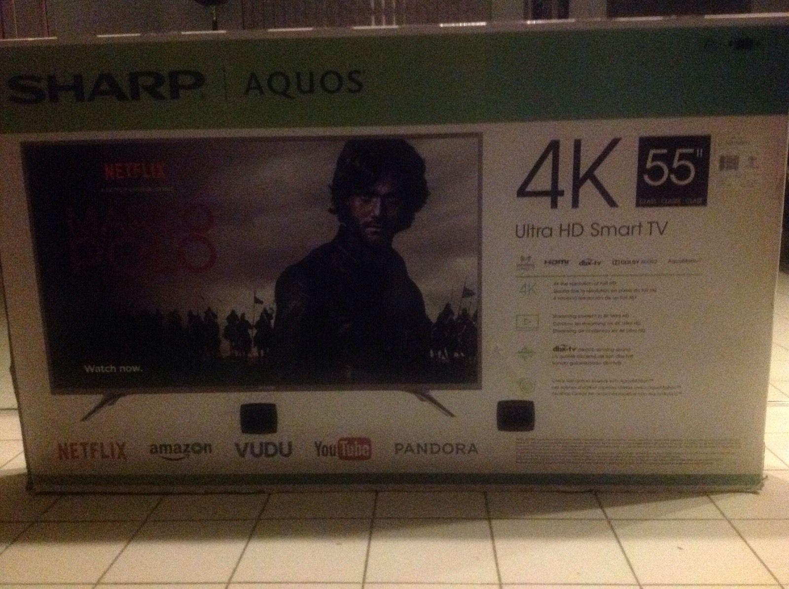 Sharp Aquos 55 Inch 4K Smart Tv Nib | Common Shopping