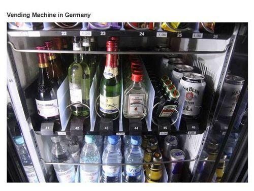 Vending machine in Germany