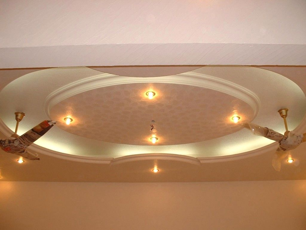 Pop Ceiling Design For Hall With 2 Fans Wallpaperall