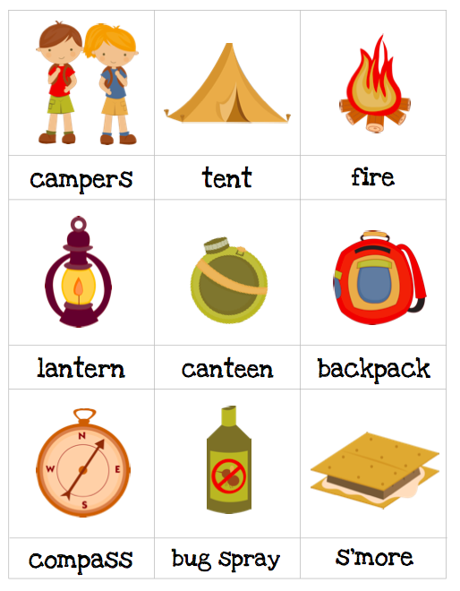 Autism Tank Resource For Thematic Worksheets Preschool Camping