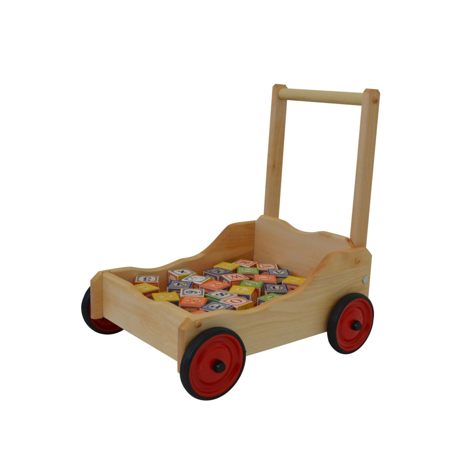 Wooden Toy Walker Wagon Walker Wagon Toddler Walker Wagon Baby