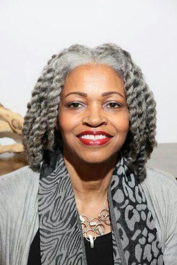 Gray Twists Beautiful Gray Hair Natural Gray Hair Natural Hair Styles