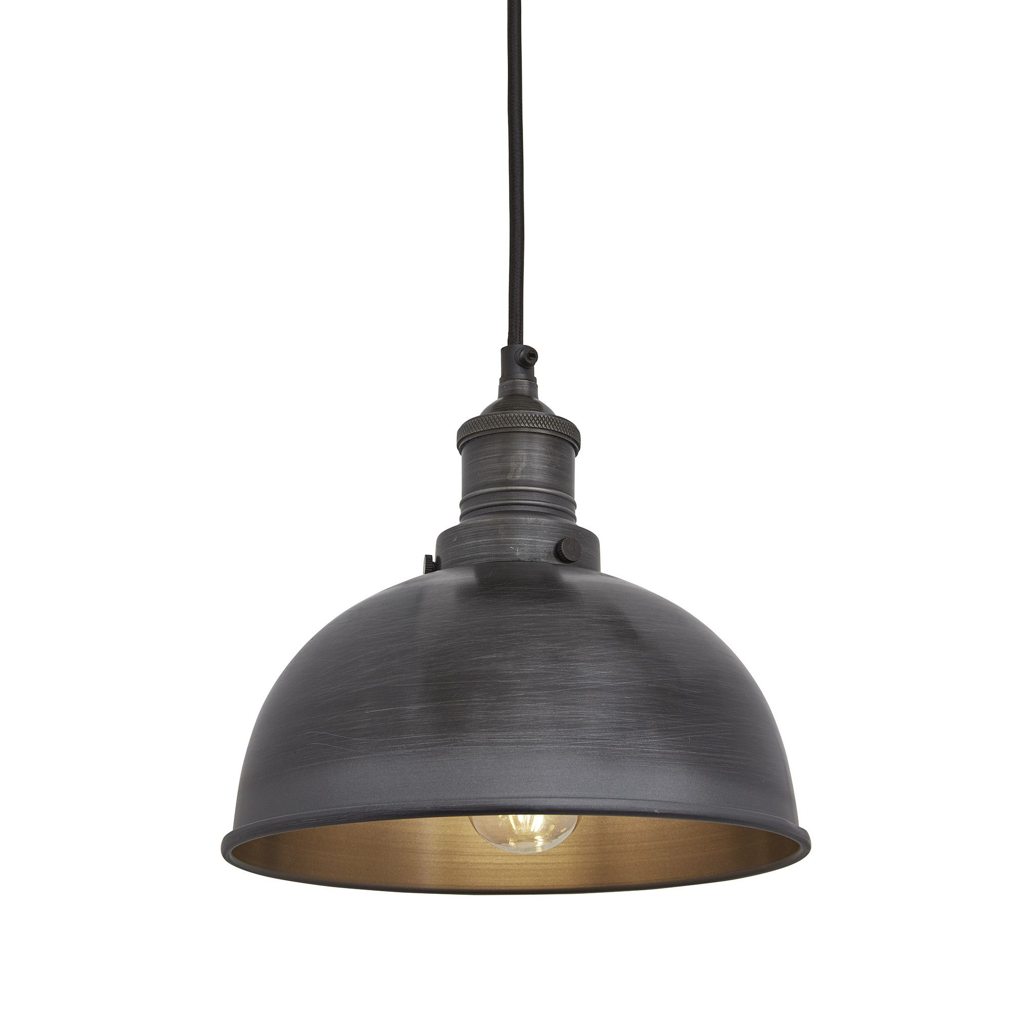 dome lighting fixtures. Brooklyn Dome Pendant - 8 Inch Pewter Lighting Fixtures