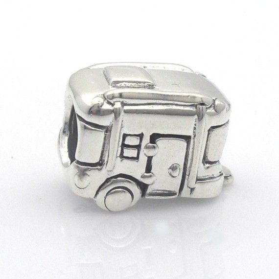 Sterling Silver Camper Trailer Rv Charm With Handmade