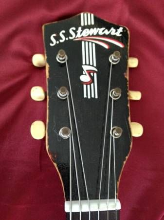 S S Stewart Headstock Unique Guitars Stencil Logo Luthiery