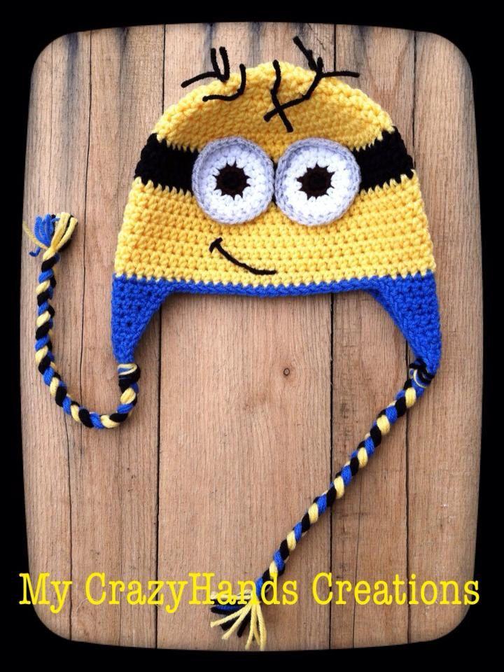 Minion Hat, Crochet Minion hat, baby minion, despicable me hat ...