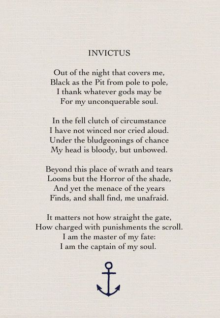 invictus poem meaning of each stanza