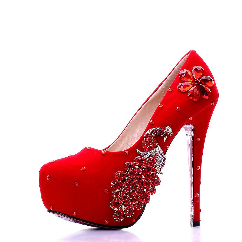 Free Shipping Buy Best Wedding Shoes Women Pumps Red Black Bride