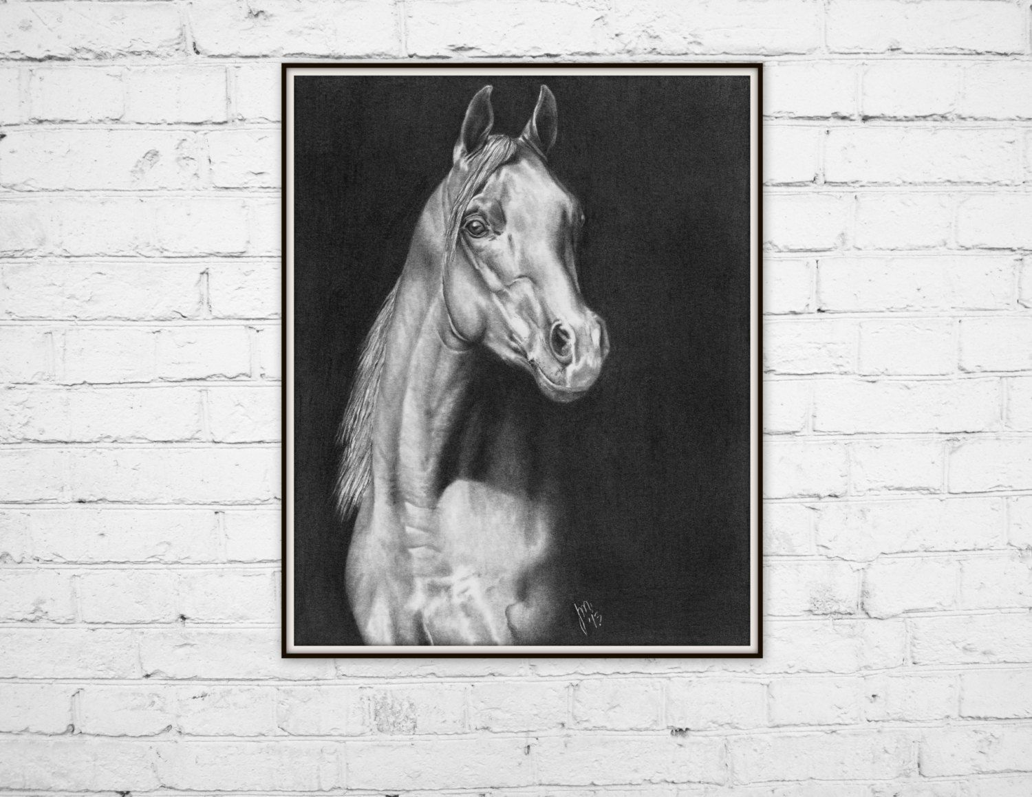 Art Print, Horse in pencil 8x10 - pinned by pin4etsy.com