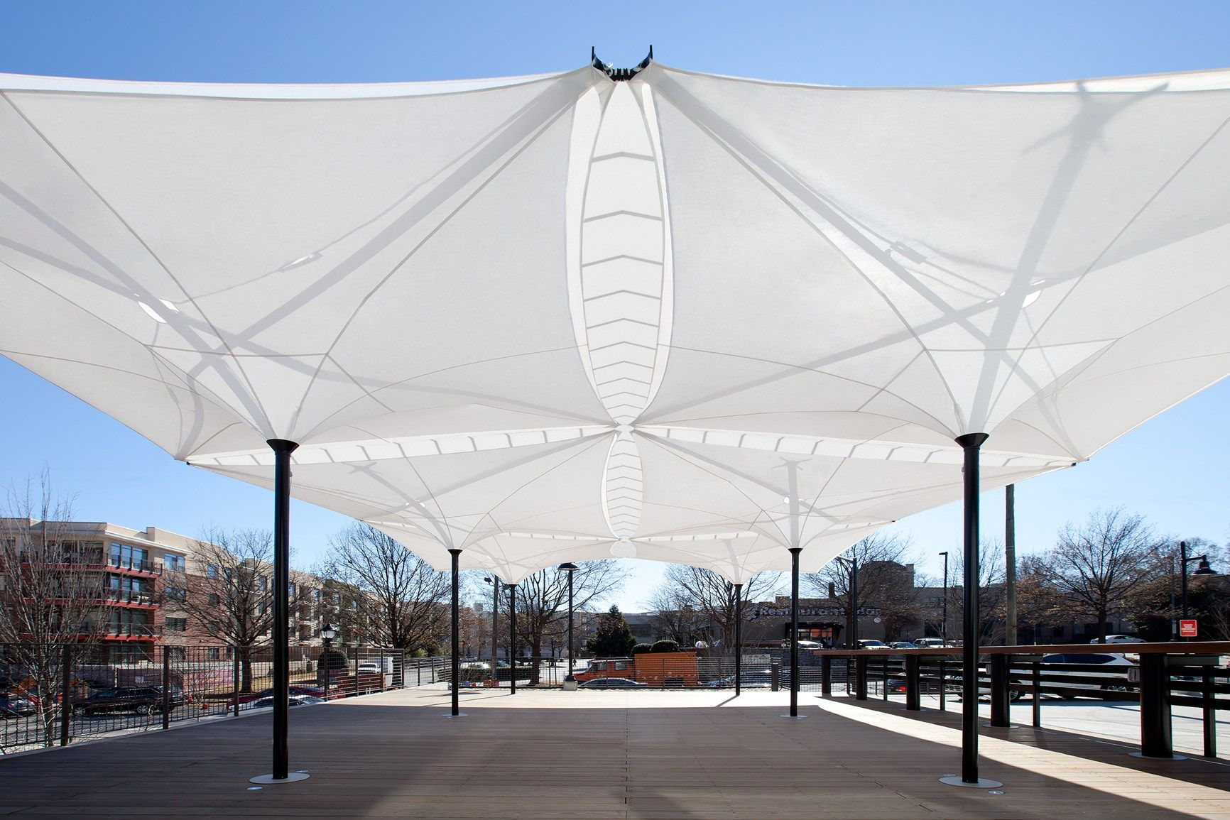 Mdt Tex At Luminale Canopy Architecture Canopy Design Garden Canopy