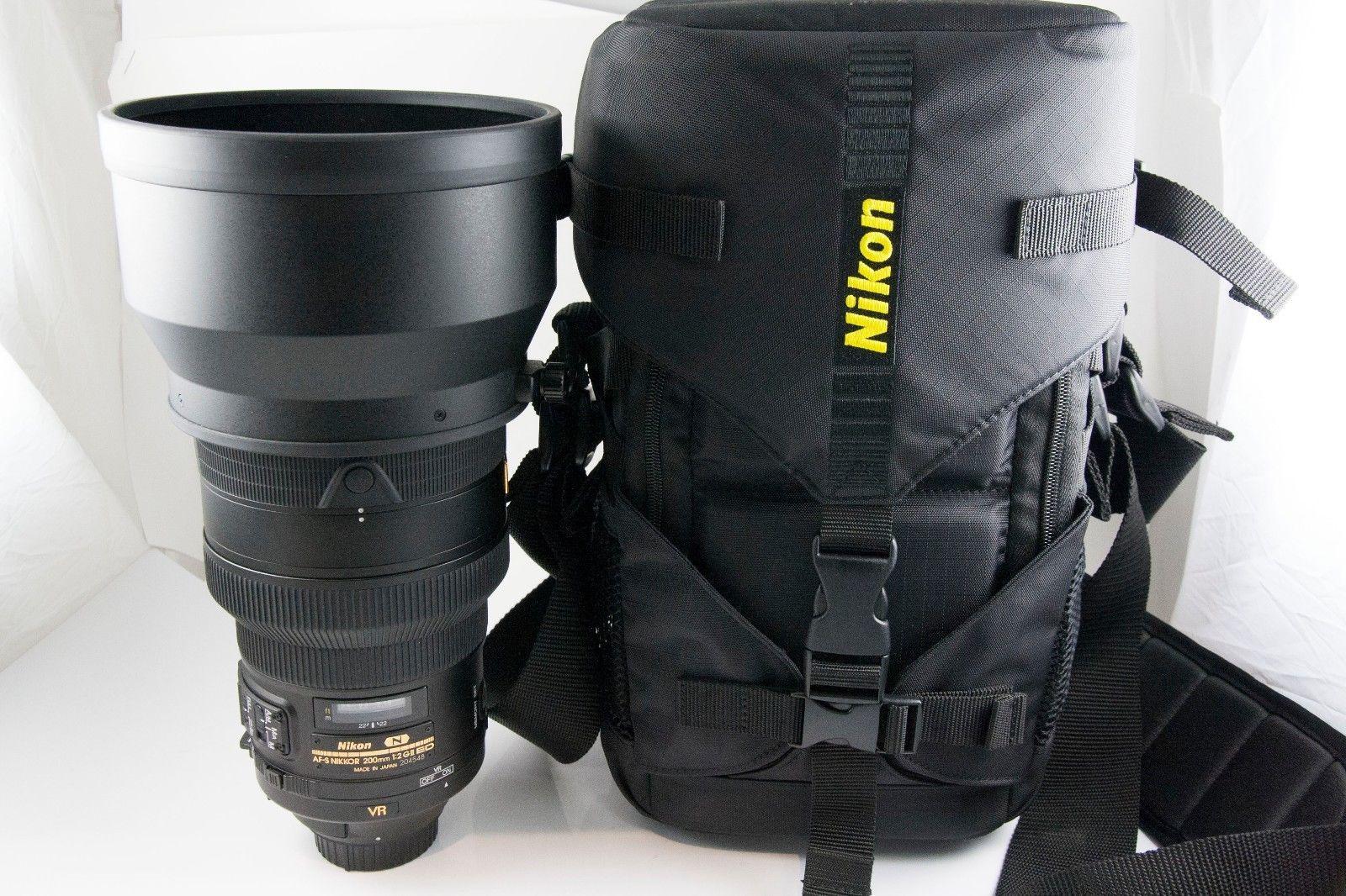 Nikon Af S Nikkor 200mm F 2 G Ed N Vr Ii Lens Mint Stuff To Buy Nikon Lens
