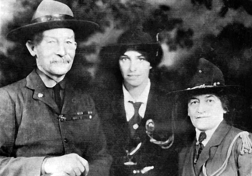 Lord Baden Powell Lady Baden Powell And Juliet Gordon Low Founder