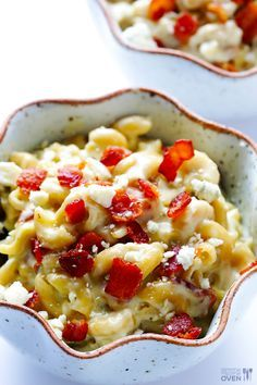 This fabulous and indulgent recipe for Bacon and Bleu Mac and Cheesecombines smoky crisp bacon with pasta in a creamy rich sauce.
