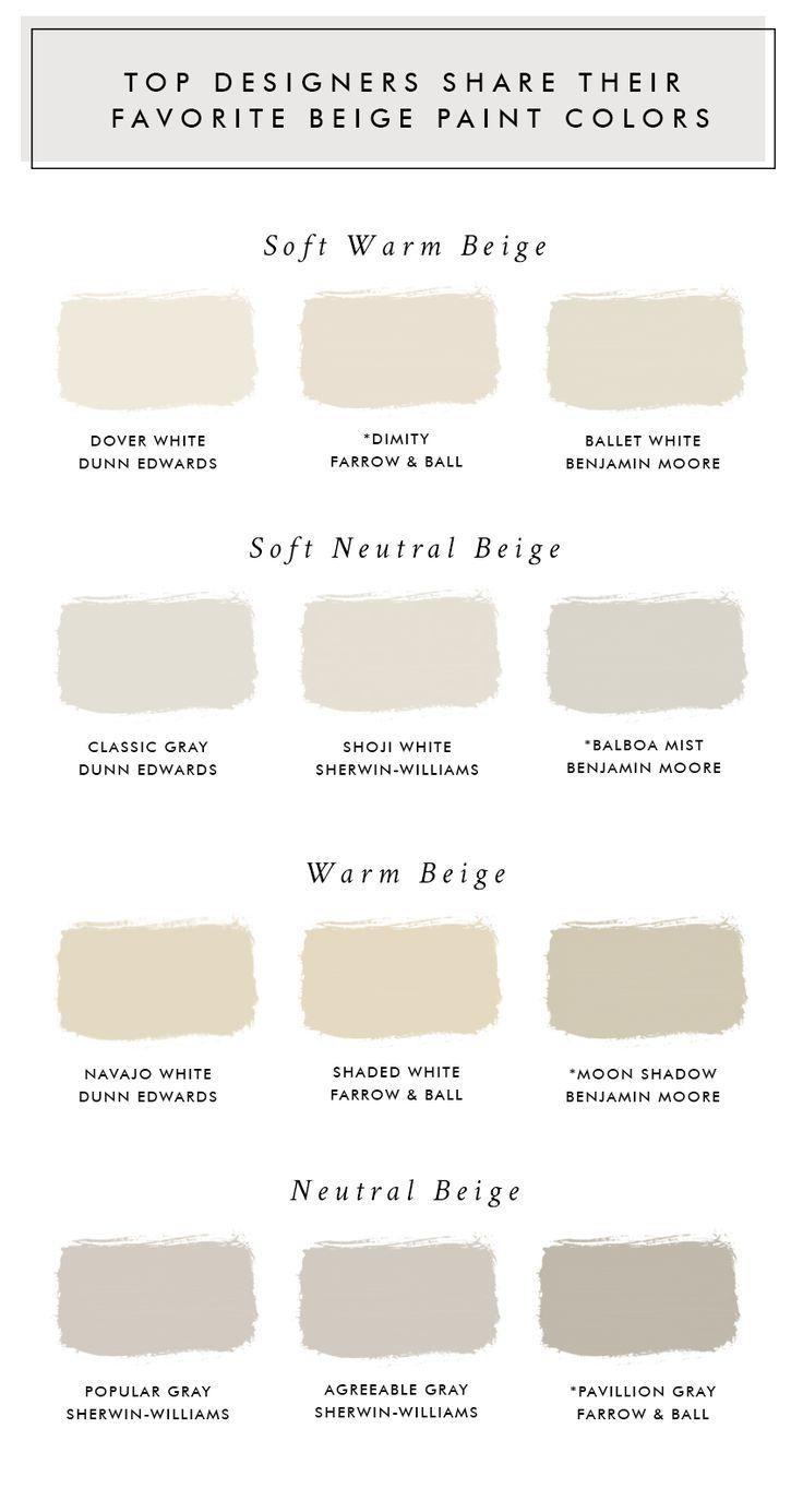 Top Designers Share Their Favorite Beige Paint Colors Met Afbeeldingen Beige Kleuren Verf Slaapkamer Verf Kleuren Badkamer Verven