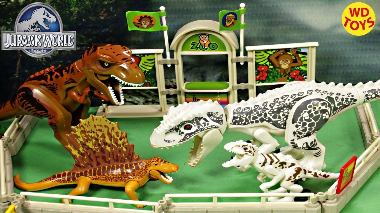 New playmobil dino dimetrodon vs trex indominus rex lego - Dinosaure jurassic world ...