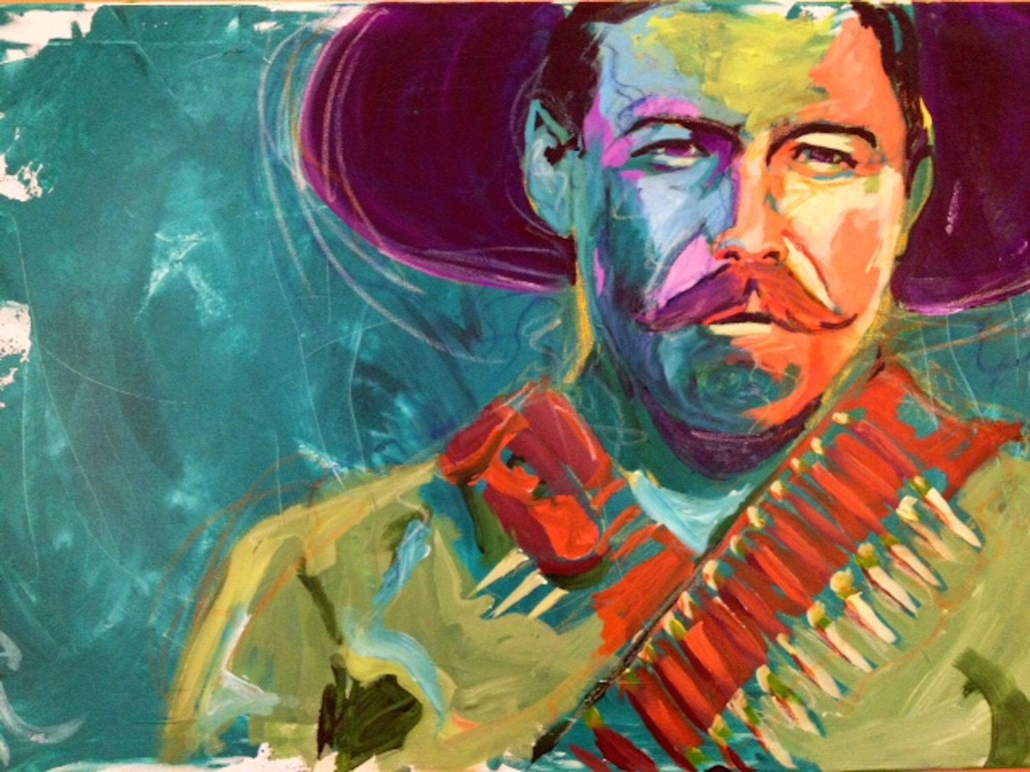 pancho villa portrait giclee canvas mexican celebrity print wall pancho villa art print by alejandro castanon worldwide shipping available at just one of millions of high quality products available