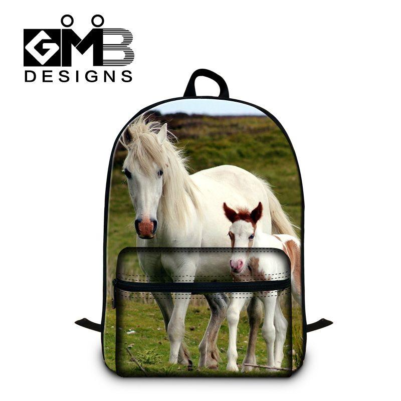 b0f164c9fe Designer Animal Horse School Backpacks for Teenager Boys Fashion  Lightweight Bookbags for Girls Schoolbag Bagpack for Children  Affiliate