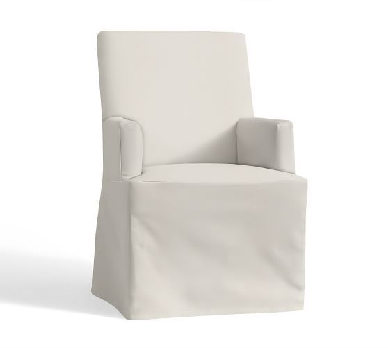 PB Comfort Square Arm Slipcovered Chair