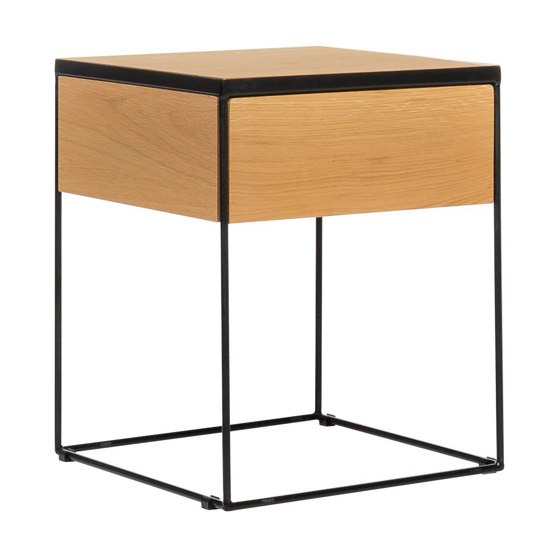 Drive 1 Drawer Bedside Table Oak Rustic Table Table Bedside