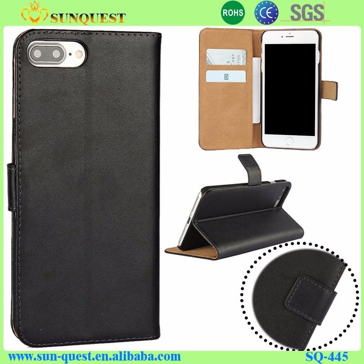 Folio Book Style Genuine Leather Case For iPhone 7 Plus Phone Case Wallet Flip Cover