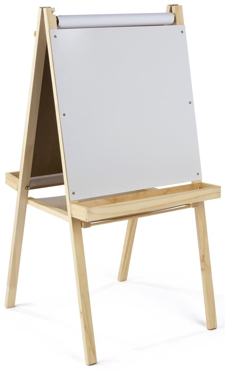Double Sided Easel Dry Erase Chalkboard Surfaces Floor Standing Wood Muebles Infantiles Caballete Talleres De Pintura