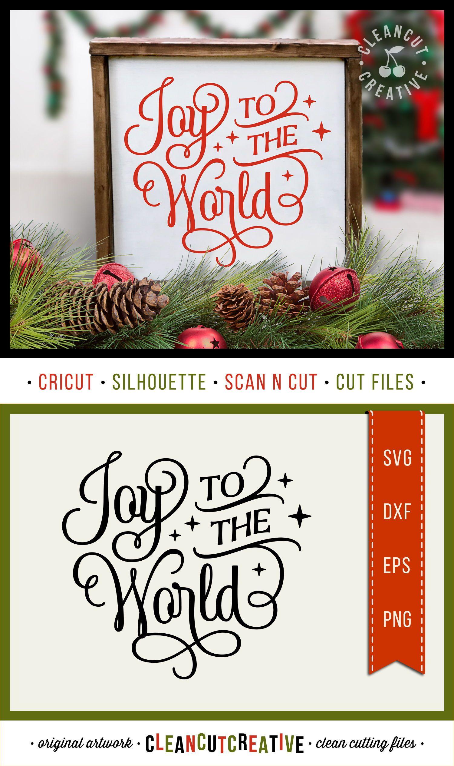Joy to the World elegant Christmas SVG design for