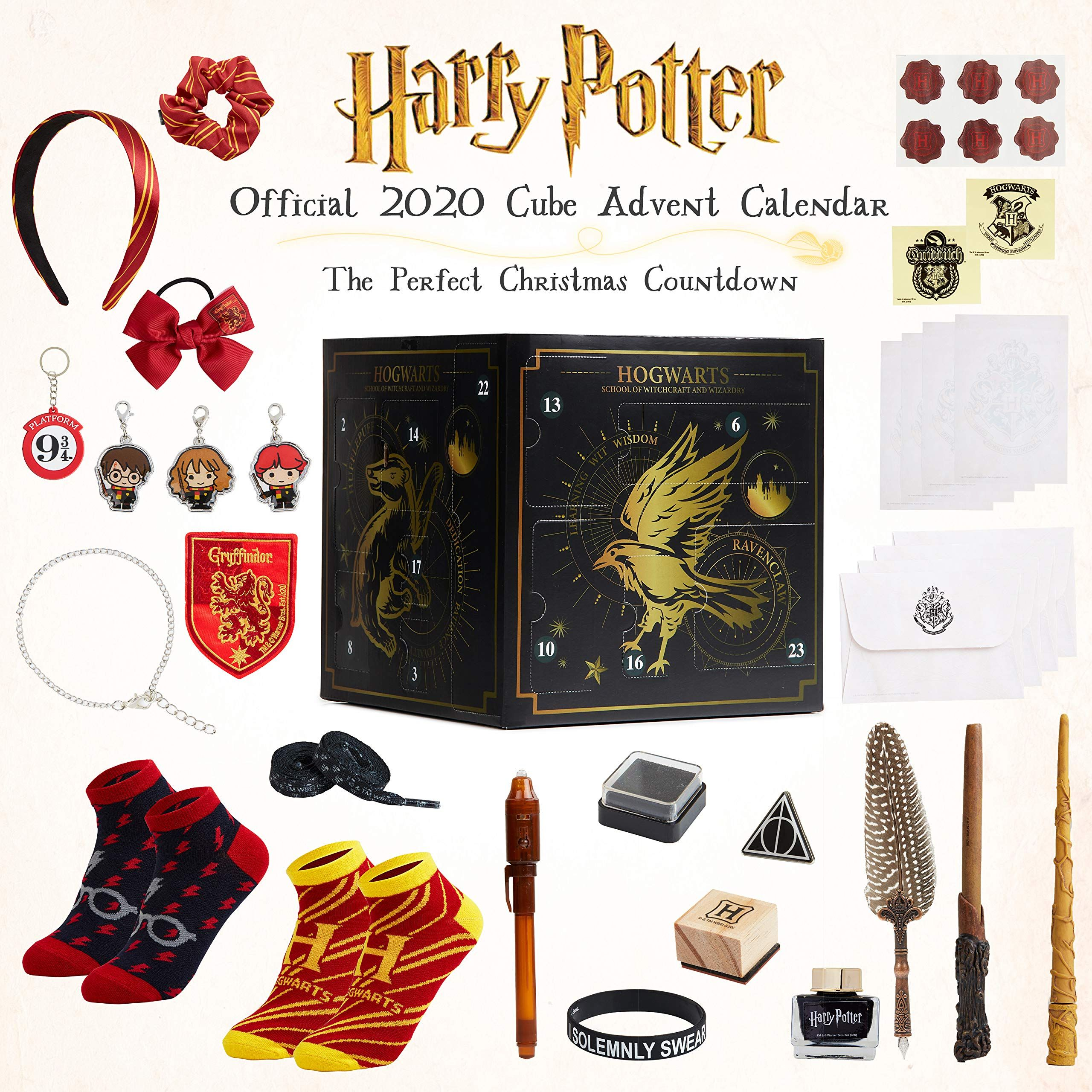 Harry Potter Advent Calendar 2020 Cube Christmas Countdown Calender With 24 Surprises Includi Harry Potter Advent Calendar Christmas Countdown Advent Calendar