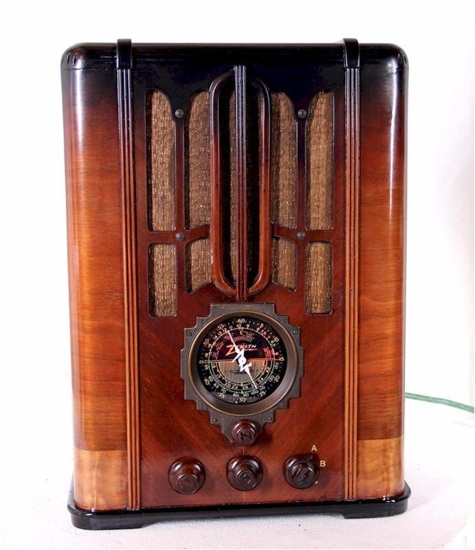 Zenith 5 S 29 Tombstone 1936 Sold At The Radio Attic Item Number 1100244 Antique Radio Vintage Radio Old Radios