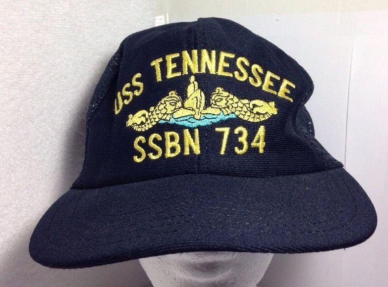 72d66d12 ... discount vintage uss tennessee ssbn 734 us navy submarine black trucker  hat snapback northstar truckerhat b7b4c