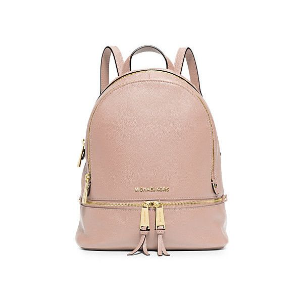 2dbb65fa7aba ... where to buy michael kors rhea small leather backpack balletpink 515  pen 0def6 ed933
