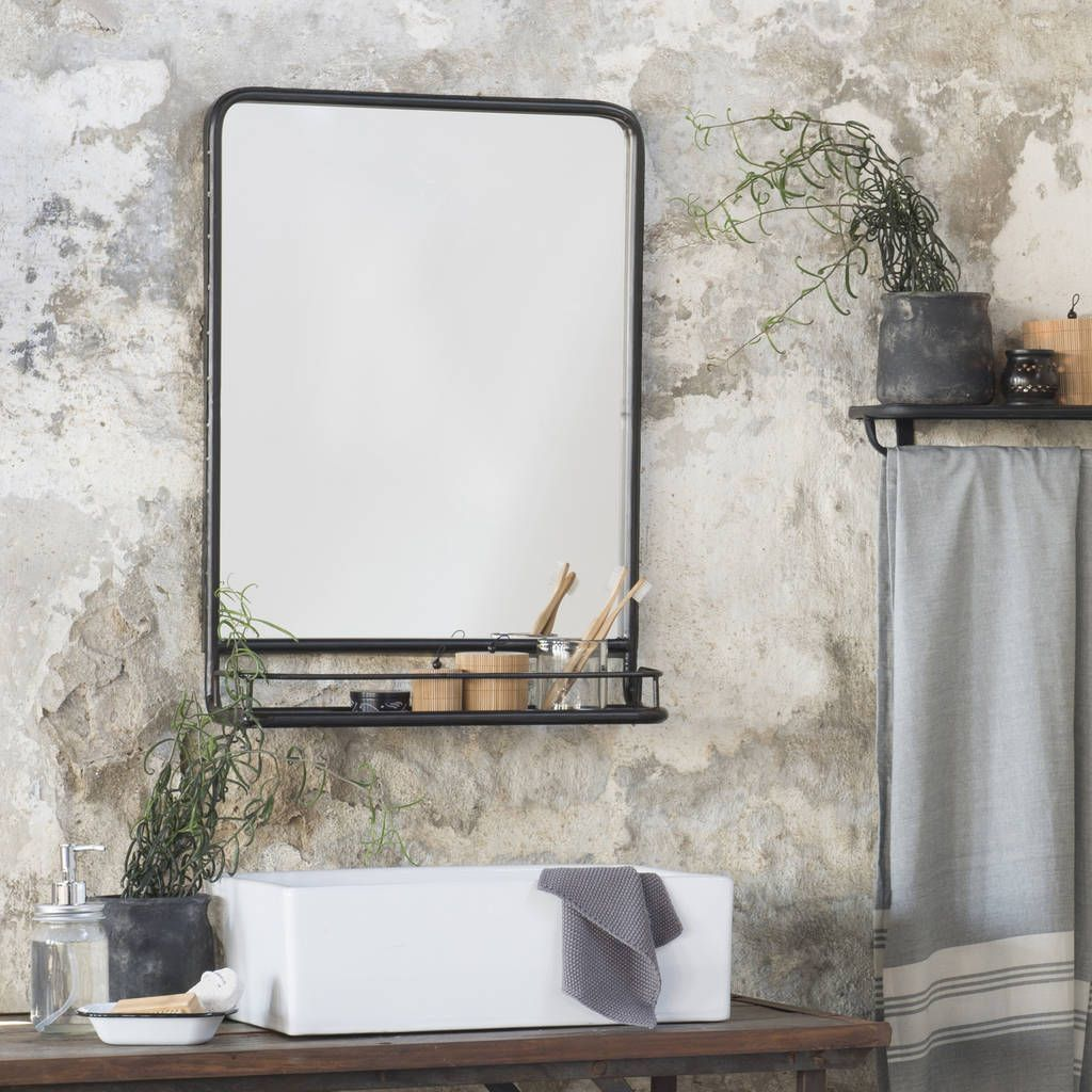 Are you interested in our industrial bathroom shelf mirror with