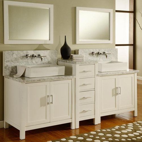 "Found it at Wayfair - Horizon 84"" Double Premium Bathroom Vanity Set with Mirror"