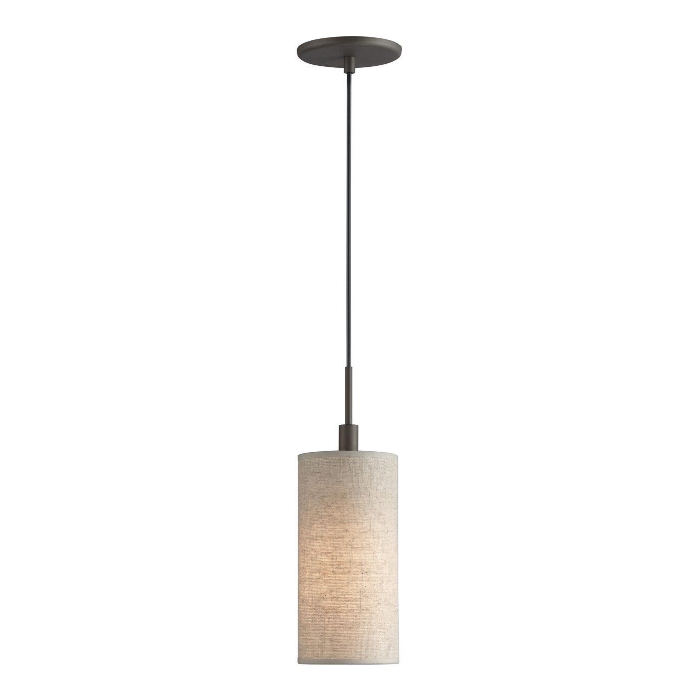 Woodbridge Lighting 13423 1 Light Mini Pendant With Fabric Shade