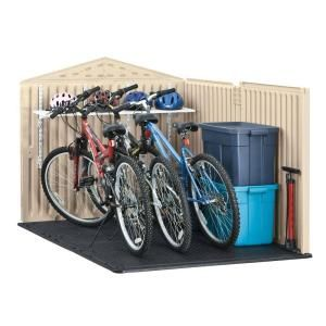 Rubbermaid 6 ft. x 4 ft. Slide-Lid Shed 1800005 at The Home Depot - Mobile