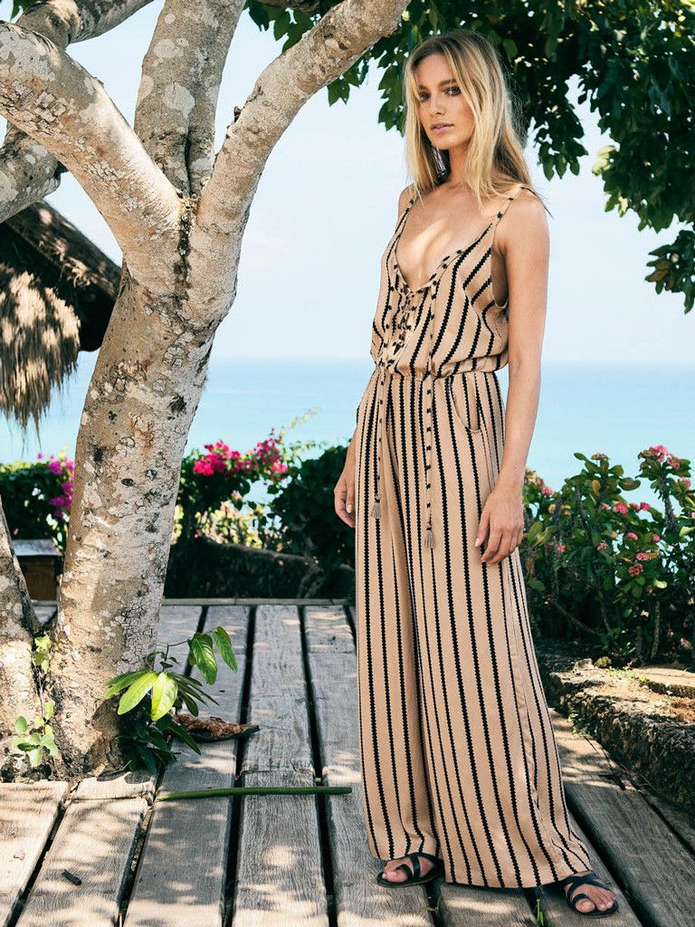 5e32df7c65 Mali Cigar Jumpsuit Toffee | Beachgold | Contemporary Resort Wear ...