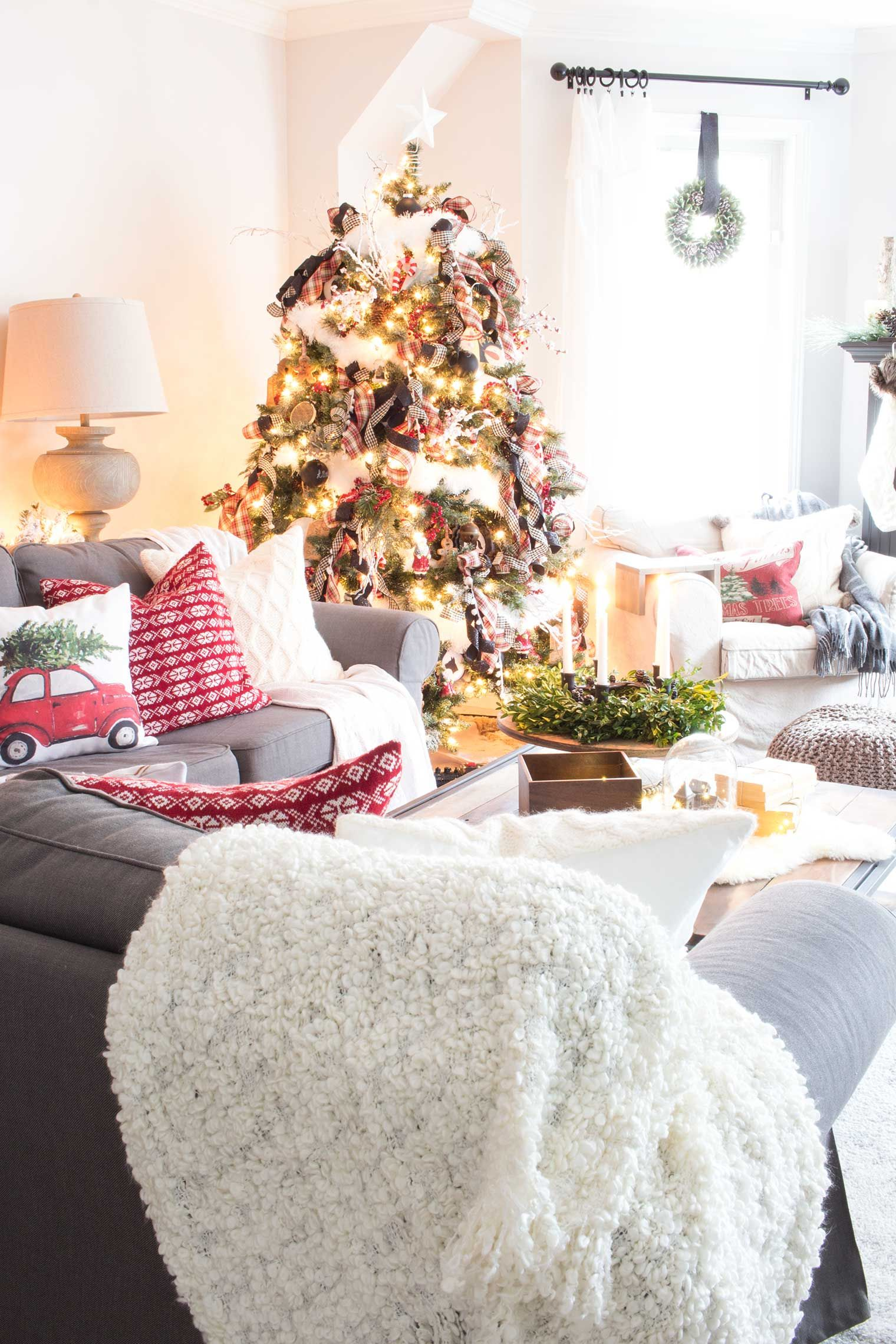 A nostalgic farmhouse style christmas in the canadian