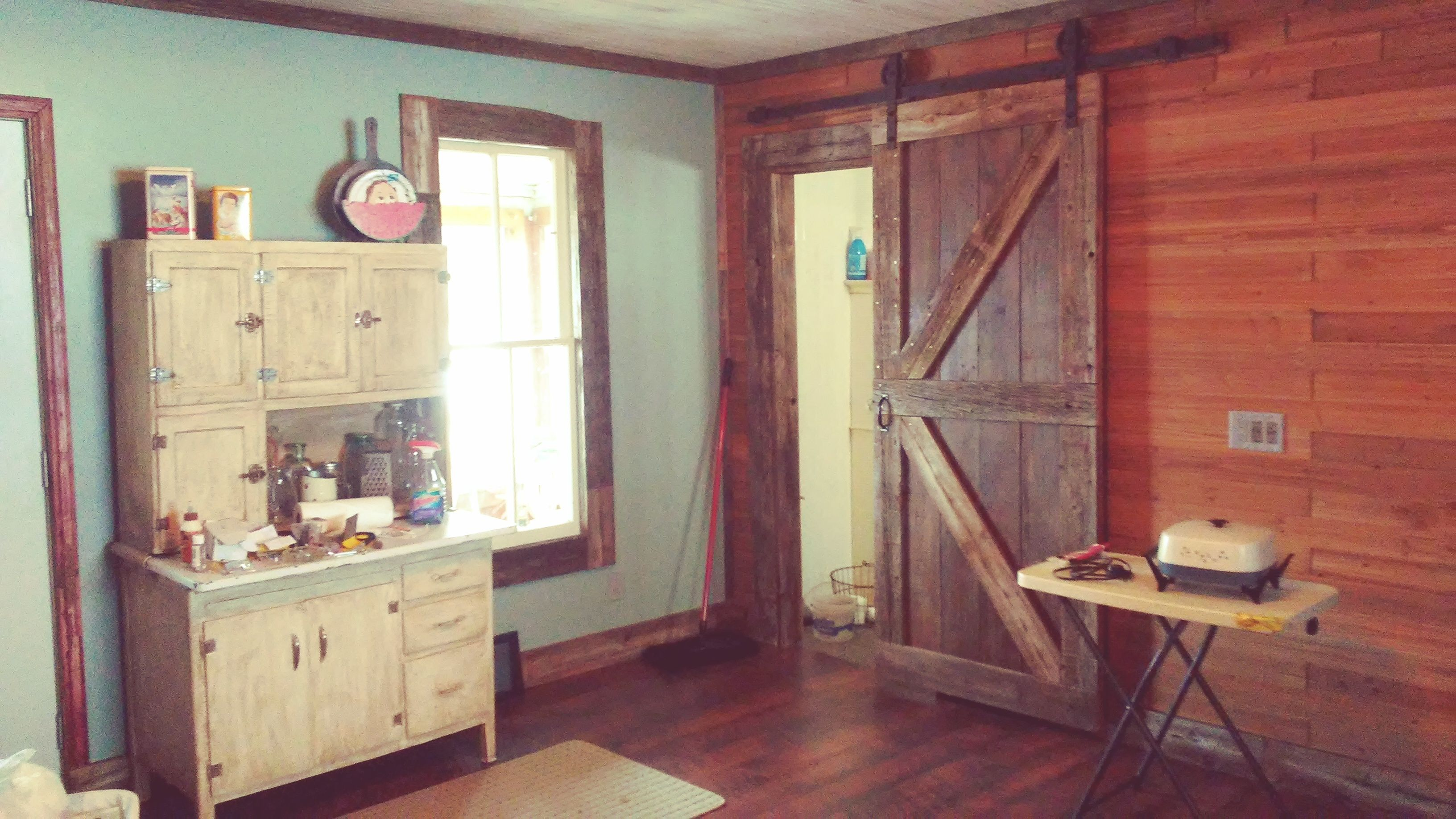 This Shows The Barn Door Again The Other Wall With The Cedar Planks