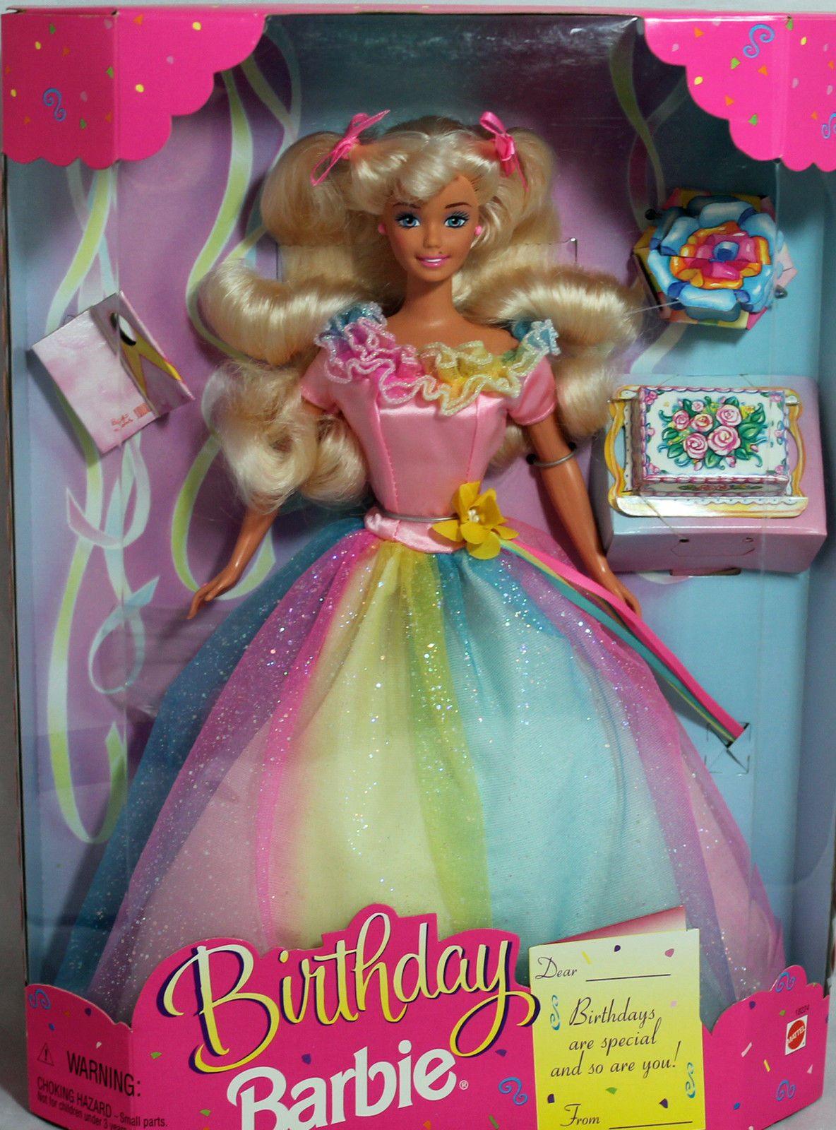 Barbie Wln Blonde 1997Nrfb Box 18224Ebay Birthday Mint PXuOZik