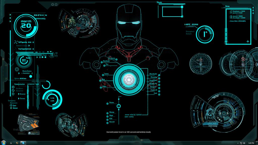 Iron Man Jarvis Theme by Xhini on deviantART Fondos de