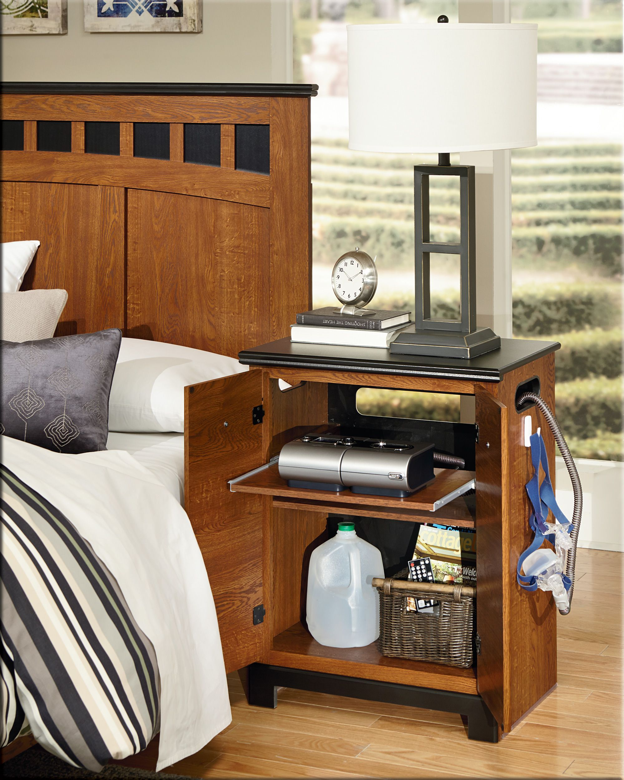 CPAP nightstand from Perdue Woodworks. In stock at