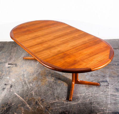 Mid Century Danish Modern Dining Table E Valentinsen Solid Teak