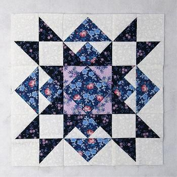 Free Christmas Star Quilt Block Pattern