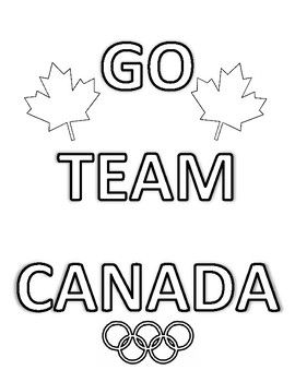 2018 winter olympics, team canada colouring pages, bundle