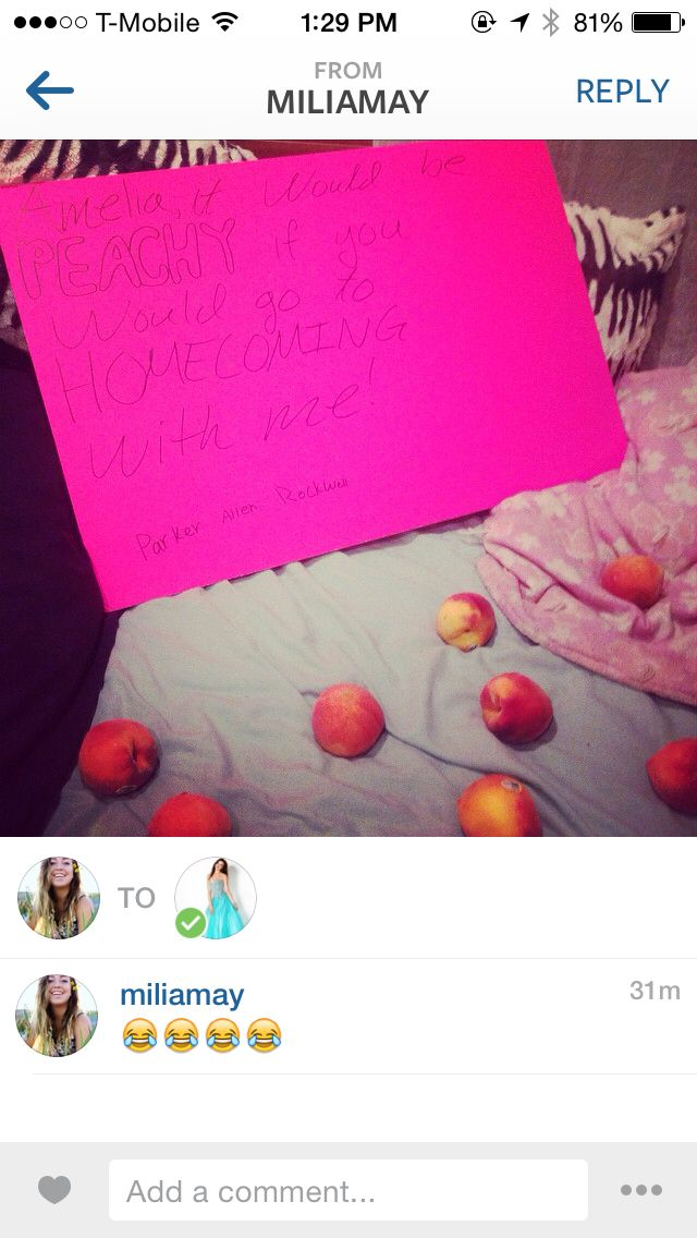 Haha Okay So We All Know Homecoming Is During Peach Season