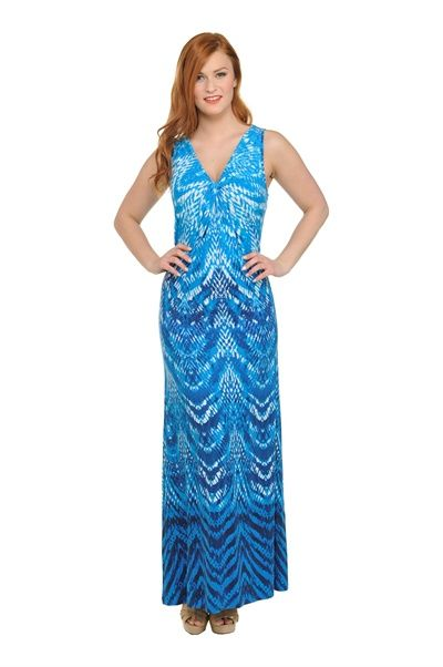 Peter Nygard Ikat Drape V Neck Maxi Dress Fashion Dresses