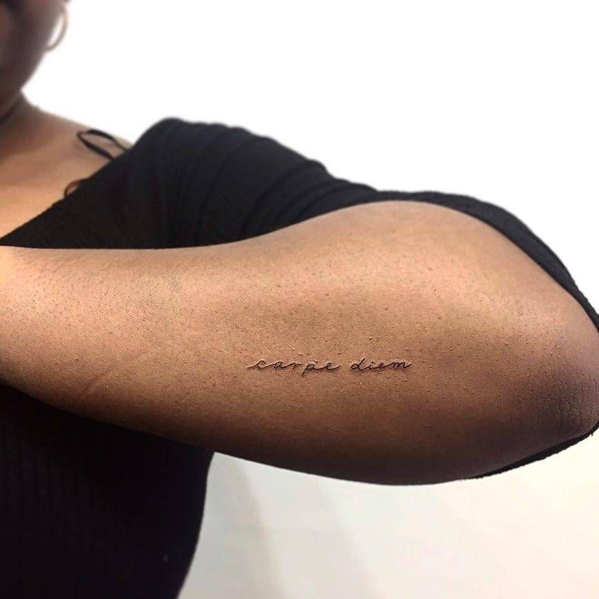 Carpe Diem Tattoo On The Left Forearm Tatuajes Nuevos