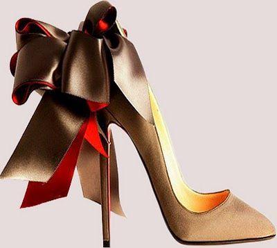 a pair of Christian Louboutin shoe