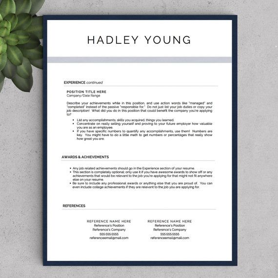 Modern Resume Template for Word and Pages by LandedDesignStudio - how you do a resume