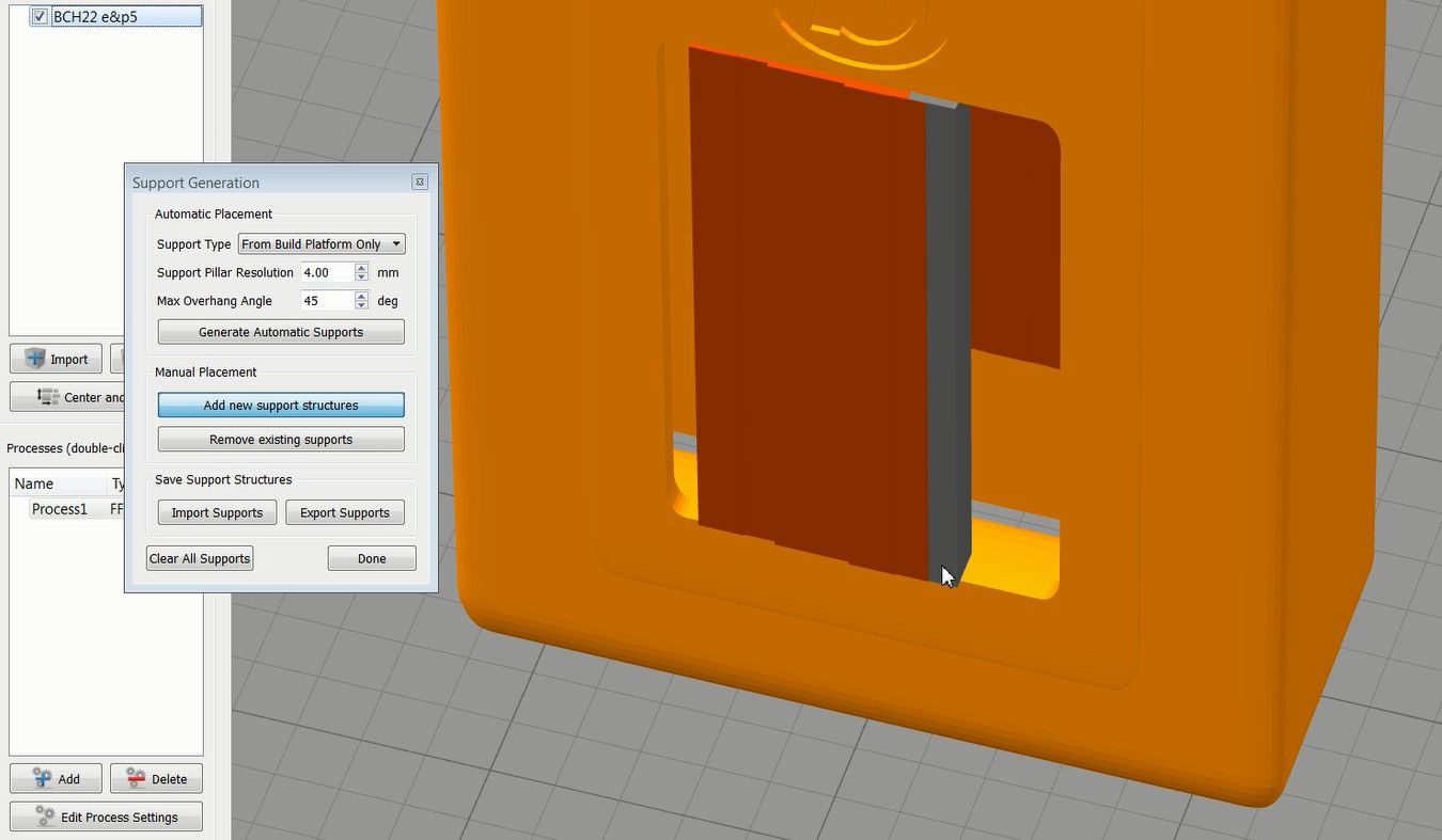 An object with overhangs over 45 degrees normally requires adding support in 3d printing. In a slicing software Cura there are options for 2 different ty...