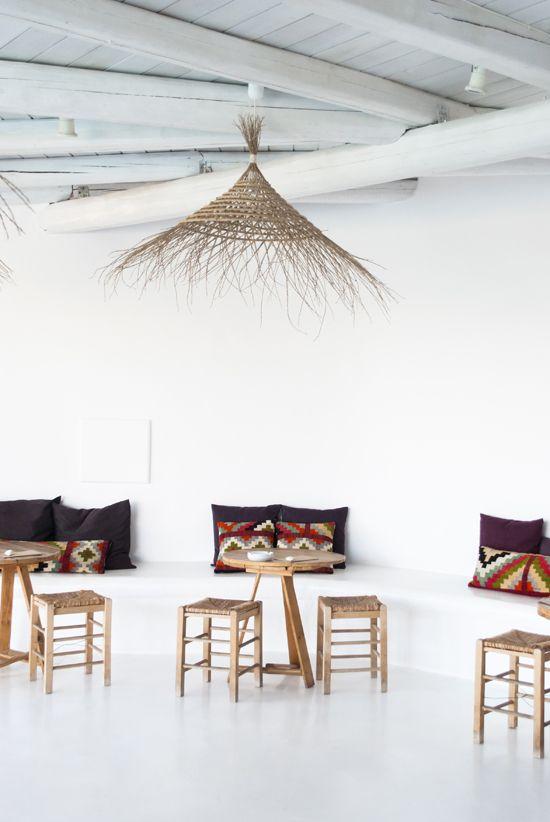 Hotel San Giorgio, Mykonos #grecia #estancia #estructura #madera